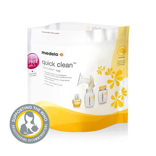 how to use medela quick clean micro steam bags